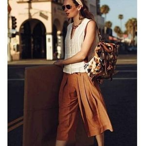 ANTHROPOLOGIE ELEVENSES Kinney Wide Cropped Pants